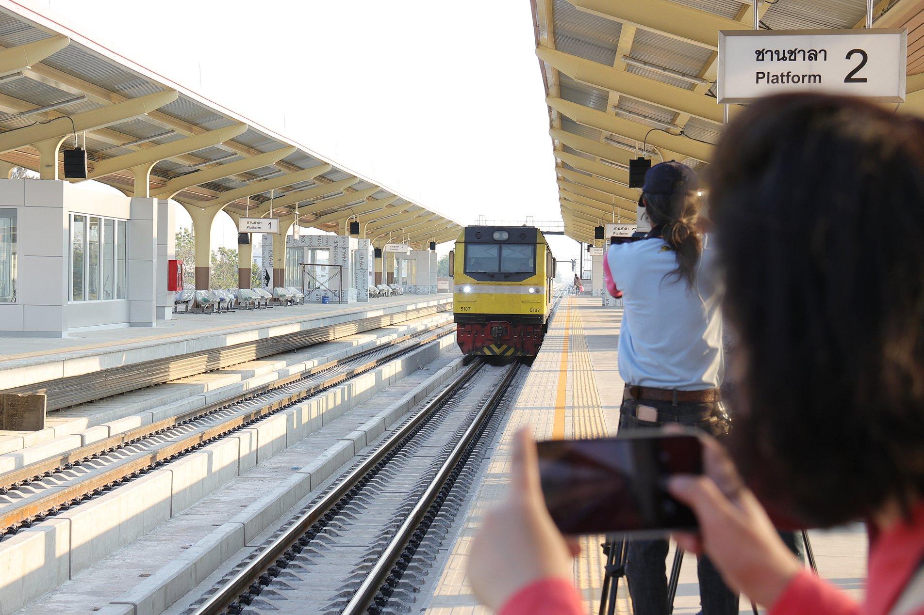 """""""สถานีรถไฟลอยฟ้าขอนแก่น"""" พร้อมเปิดอย่างเป็นทางการ 13 มีนาคม 2562 นี้"""