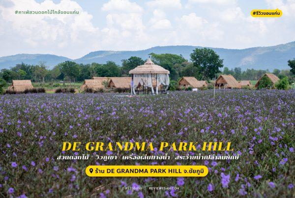 รีวิวคาเฟ่ทุ่งนาเปิดใหม่ ชัยภูมิ De Grandma Park Hill by #รีวิวอีสาน #รีวิวชัยภูมิ reviewesan.com